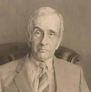 Portrait of Sidney by artist Bob Tulloch, 1984